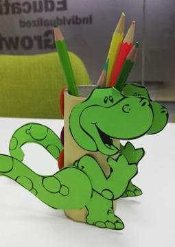 Dinosaur Pencil Holder 2