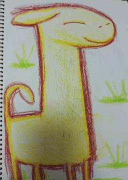 Wax Giraffe