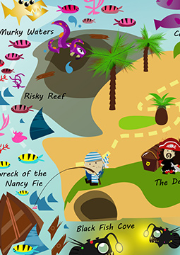 The Hungry Pirates of Black Fish Cove MAP